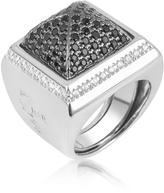 Ileana Creations Azhar Black Cubic Zirconia Square Ring