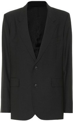 AMI Paris Wool-blend single-breasted blazer