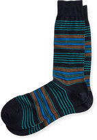 Pantherella Silbury Multi-Striped Half-Calf Socks