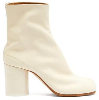 Maison Margiela Tabi Split-toe Vintage-leather Ankle Boots - White