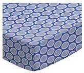 686 SheetWorld Fitted Basket Sheet - Primary Bubbles Blue Woven - Made In USA - 13 inches x 27 inches (33 cm x cm)