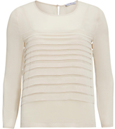 Gina Bacconi Pleated Front Chiffon Top, Butter Cream