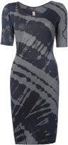 Raquel Allegra fitted tie-dye dress - women - Cotton/Polyester - 1