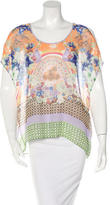 Clover Canyon Printed Cold-Shoulder Top