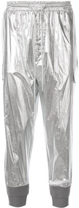 Juun.J Metallic Track Pants