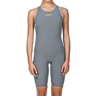 Arena Women's Powerskin R-evo One Swim Suit - Open Back Swimsuit, Grey/Bright Orange