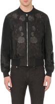 Alexander McQueen rose silk-voile jacket