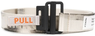Heron Preston Distressed Jacquard Tape Belt