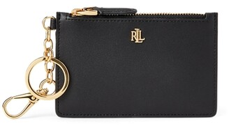 Ralph Lauren Leather Zip Card Case