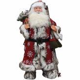 Asstd National Brand 24 Snowflake Santa Claus Figurine with Mittens & Staff