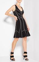 Herve Leger Caitlyn Metallic Jacquard Dress
