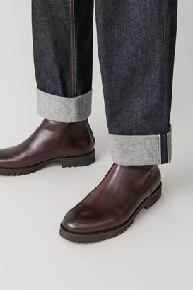 Cos Chunky-Sole Leather Boots
