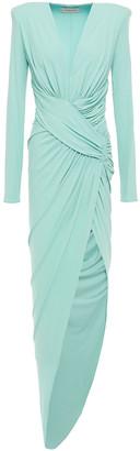 Alexandre Vauthier Asymmetric Gathered Stretch-jersey Dress
