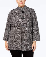 JM Collection Plus Size Printed Jacket, Created for Macy's