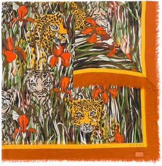 Gucci Tigers in the Jungle print scarf