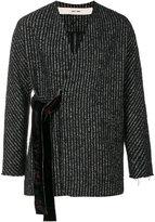 Damir Doma striped crossover jacket