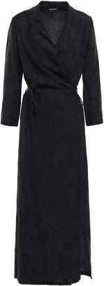 Ann Demeulemeester Floral-jacquard Midi Wrap Dress