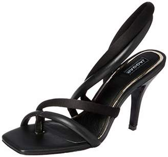 Jaggar Women's SWAY Satin Open Toe Stilletto Dress Heel Pump