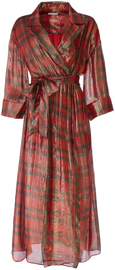 Alice + Olivia Chap Wrap Maxi Dress