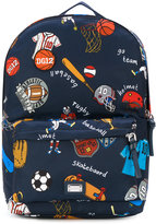 Dolce & Gabbana sports print backpack - kids - Polyester - One Size