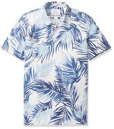 Amazon Brand - 28 Palms Men's Relaxed-Fit Performance Cotton Tropical Print Pique Golf Polo Shirt