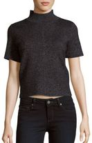 Saks Fifth Avenue BLACK Solid Short Sleeve Top