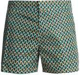 Prada Geometric-print swim shorts