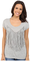 Brigitte Bailey Adley Short Sleeve Fringe Top