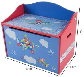 Trademark Global Toy Box - Storage Bench Seat By Hey Play