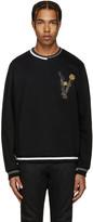 Versace Black Embroidered Belt Pullover