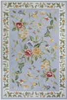 Momeni Rugs Blue Floral Tea Wool Rug
