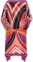 Emilio Pucci Stella Printed Silk-chiffon Kaftan - Pink