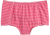 J.Crew High-waist bikini bottom in gingham seersucker