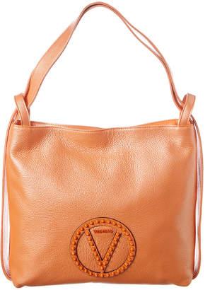 Mario Valentino Valentino By Leopold Rock Dollaro Stud Leather Shoulder Bag