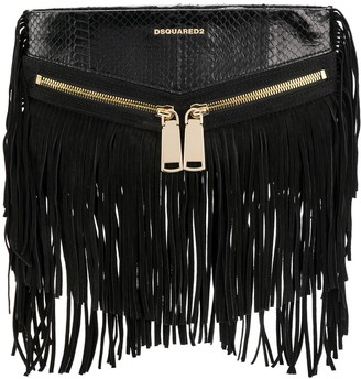 DSQUARED2 Rock fringe clutch