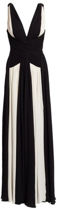 ZUHAIR MURAD Draped Silk Georgette Gown