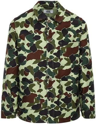 Junya Watanabe Camo Cotton Canvas Shirt Jacket