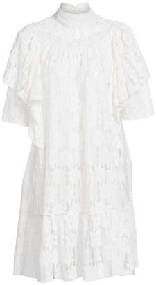 Etoile Isabel Marant Venus Ruffled Lace Shift Dress