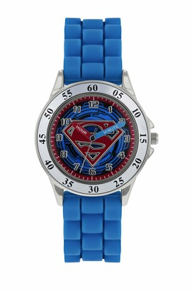 Superman Boys Analogue Quartz Watch with Rubber Strap SUP9227