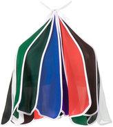 Rosie Assoulin rainbow halter neck top - women - Silk - M