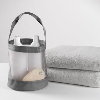 Pottery Barn Teen Charcoal Mesh Shower Caddy Bath Bundle