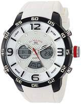 U.S. Polo Assn. Men's Analog-Quartz Watch with Rubber Strap
