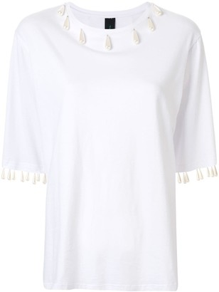 Romance Was Born Regency pearl-embellished T-shirt