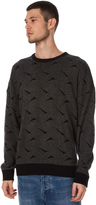 Globe Dion Triangles Mens Sweater Grey