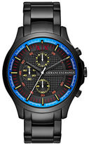 Armani Exchange Hampton Stainless Steel Brushed Tri-Link Bracelet Chronograph