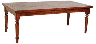 "MacKenzie-Dow Farmhouse Solid Wood Dining Table Color: Wheatland, Size: 30.25"" H x 84"" L x 40"" W"