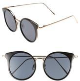BP Women's Round Wing Sunglasses - Gold/ Black