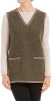 Max Studio Heathered Wool Needlepunched Vest