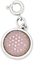 INC International Concepts Silver-Tone Blush Druzy Crystal Charm, Only at Macy's