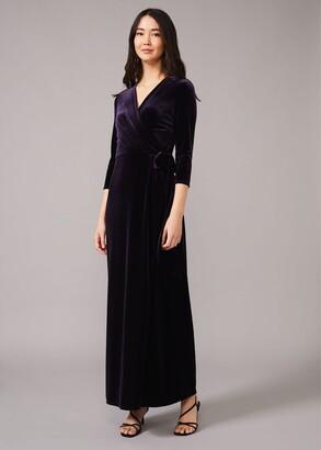 Phase Eight Valeria Velvet Wrap Dress